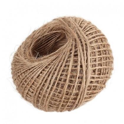 Natural Jute Burlap Twine Cord Rope String Hemp Hesssian For Packing, DIY Craft or Festive Wedding Decor