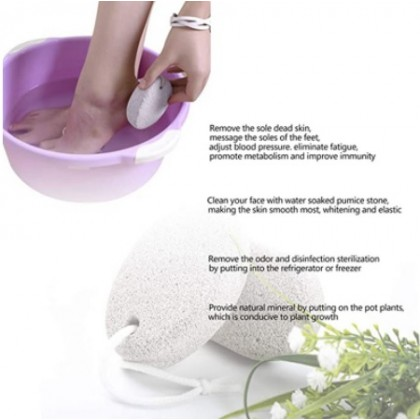 Pumice Exfoliating Stone Rectangle Natural Volcanic For Pedicure Remove Dead Skin Calluses Cutin