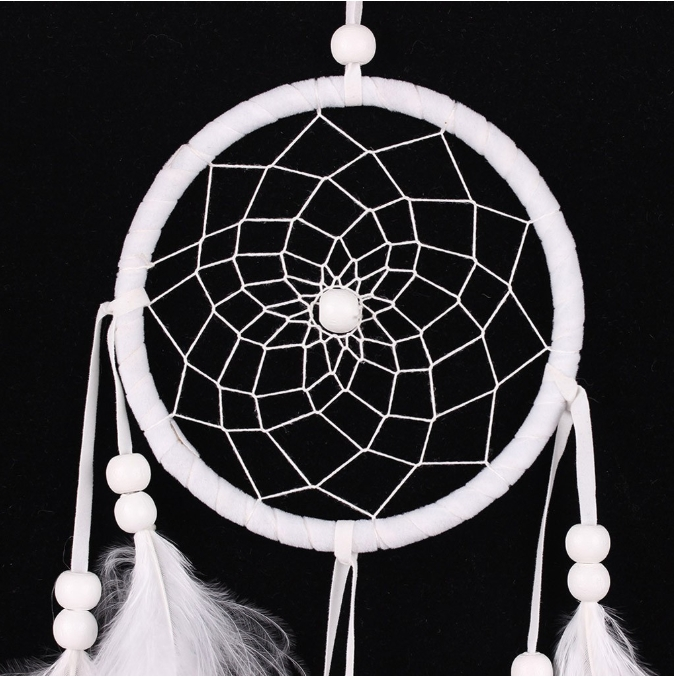 Dream Catcher Dreamcatcher Handmade Net Organic Cotton Feathers Wall, Car or Hanging Anyway