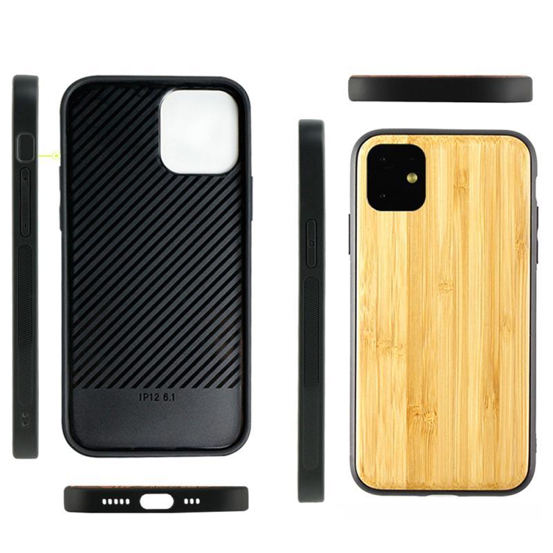 iPhone 11 Pro Max, 11 Pro, 11, Bamboo Phone Case Handmade Flexible TPU Eco-Friendly & Sustainable