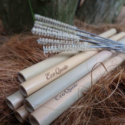 Loofah Pouch Bamboo Cutlery Set Handmade Carry Envelope All Natural Eco-Friendly Materials