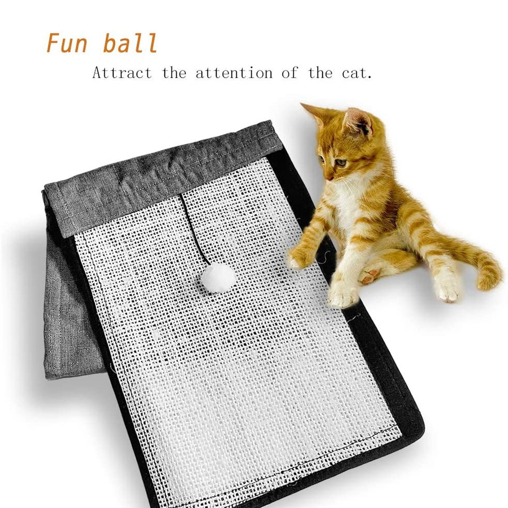 Sisal Cat Scratch Mat With Armrest Handrail Pad Protector couch sofa Anti-Scratching Eco-Friendly