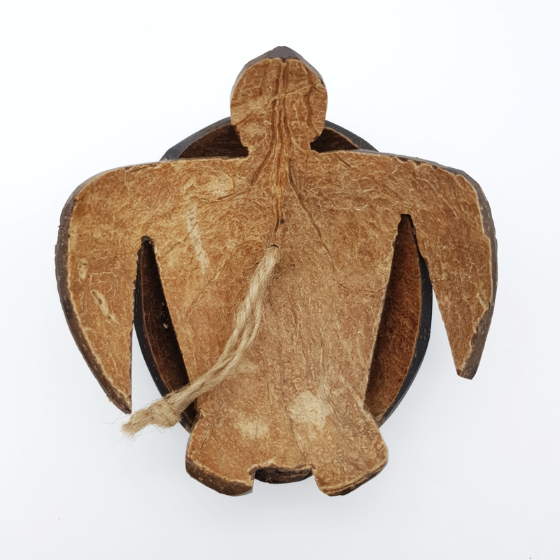 Coconut Turtle Wall Decoration Handmade Craft From Coconut Shells Eco-Friendly